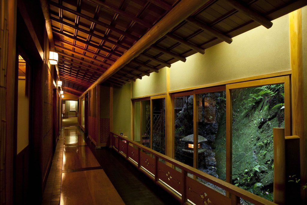 Hallway of Nishimuraya Honkan